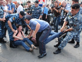 Во время проведения Дня гнева в Москве задержали около 30 человек