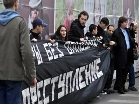 На Триумфальной площади опять задержали активистов, которые протестовали против нелегитимных выборов